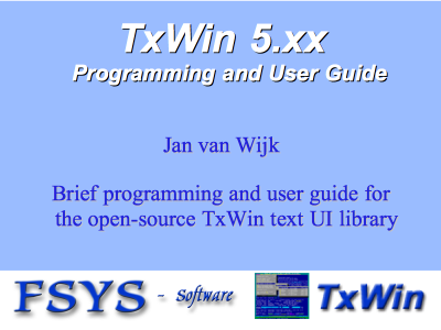 TxWin programming and user guide