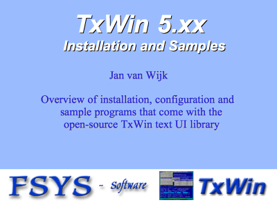 TxWin distribution and samples